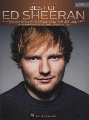 Best of Ed Sheeran for Easy Piano Updated Edition Sheet Music Book Shape of You
