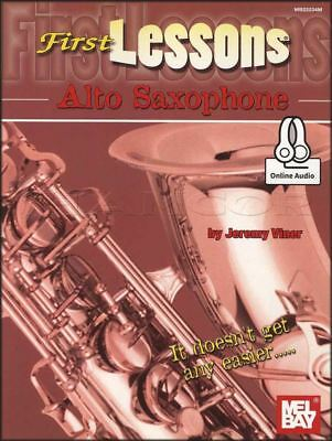First Lessons Alto Saxophone Sax Sheet Music Book & Audio Learn To Play Method