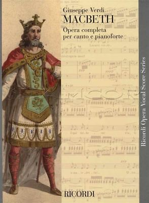 Verdi Macbeth Opera Completa Complete Voice and Piano Classical Sheet Music Book