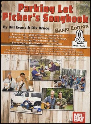Parking Lot Picker's Songbook Banjo Edition TAB Music Book with Audio 5-String