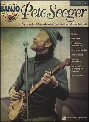 Pete Seeger Banjo Play-Along TAB Book with CD Folk Blue Skies Get Up and Go Turn