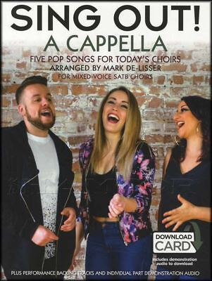 Sing Out A Cappella Sheet Music Book with Audio SATB Choir Vocal Voice Coldplay