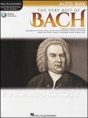 The Very Best of Bach Alto Saxophone Instrumental Play-Along Music Book/Audio