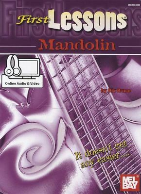 First Lessons Mandolin Sheet Music Book with Audio & Video Learn To Play Method