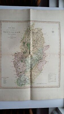 NOTTINGHAM Map London C. Smith No. 172 Dated 1801