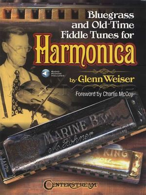 Bluegrass and Old-Time Fiddle Tunes for Harmonica Sheet Music Book with Audio