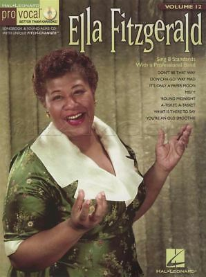 Ella Fitzgerald Pro Vocal Vol 12 Sheet Music Book with CD Sing Along Misty