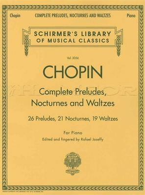 Chopin Complete Preludes, Notcurnes and Waltzes Piano Sheet Music Book Classical
