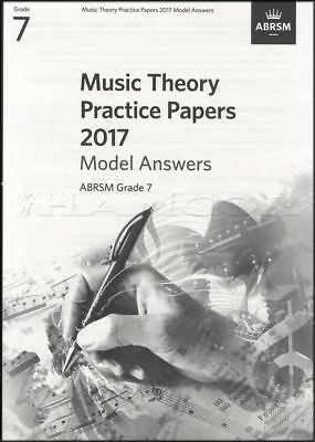 ABRSM Music Theory Practice Papers Model Answers 2017 Grade 7 to Past Music Exam