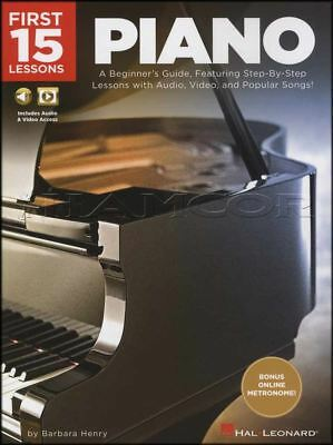 First 15 Lessons Piano Sheet Music Book/Audio/Video Learn How To Play Method