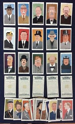 Cromos Tabaco / Tobacco Cards - John  Player - Straight Line Caricatures - 1926