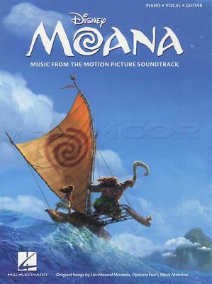 Disney's Moana Piano Vocal Guitar Sheet Music Book Music from the Motion Picture