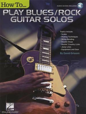 How To Play Blues/Rock Guitar Solos TAB Music Book & Audio Method David Grissom