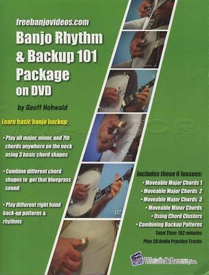 Banjo Rhythm & Backup 101 Package TAB Book with DVD Learn How To Play 5 String