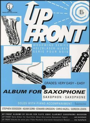 Up Front Album for Eb Alto Saxophone & Piano Sheet Music Book