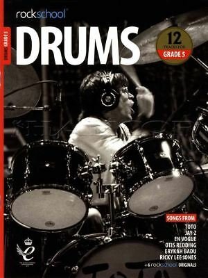 Rockschool Drums Grade 5 2018-2024 Sheet Music Book/Audio Exercises Tests Songs