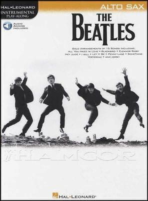 The Beatles Instrumental Play-Along for Alto Sax Sheet Music Book with Audio