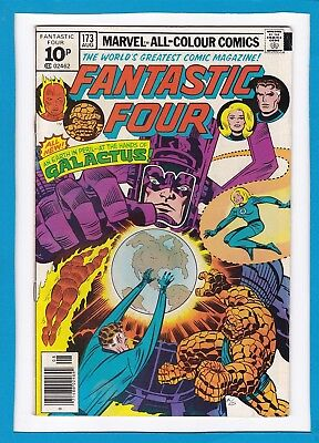 "Fantastic Four #173_August 1976_Fine/very Fine_""at The Hands Of Galactus""_Uk!"