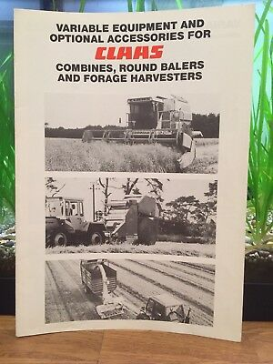 Claas Optional Equipment For  Combine Forager Baler Brochure Leaflet Tractor