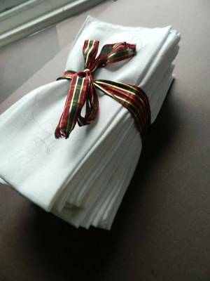 Eighteen (18) vintage large white Irish damask napkins.