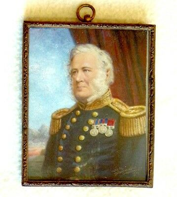 MINIATURE PORTRAIT - Victorian Officer  - signed and dated 1857