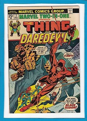 Marvel Two-In-One #3_May 1974_Very Fine_Hitler_Black Widow_The Thing_Daredevil!