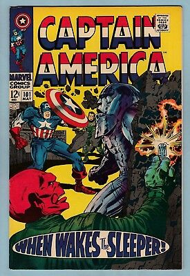 Captain America # 101 Vfn+ (8.5)  Red Skull- Kirby Art- High Grade Us Cents Copy