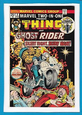 Marvel Two-In-One #8_March 1975_Vf+_The Thing_Ghost Rider_Bronze Age Marvel!