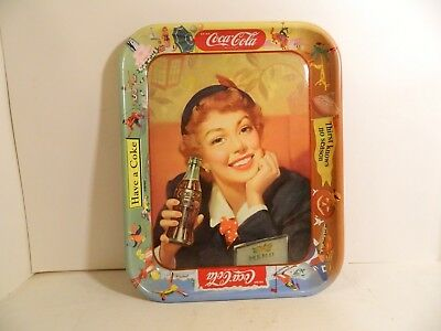Vintage Coke Tray – Coca Cola Tray With Girl Holding Bottle