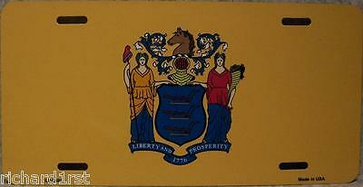 Aluminum License Plate US State New Jersey flag NEW