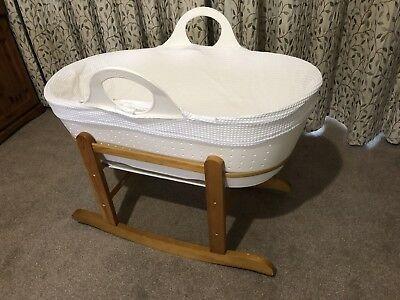 Moba White Moses Basket Plus Extras
