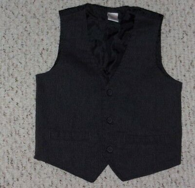 Dark Gray Gymboree Herringbone Vest, 2015 Outlet Holiday, Size 4T - 5T, GRUC
