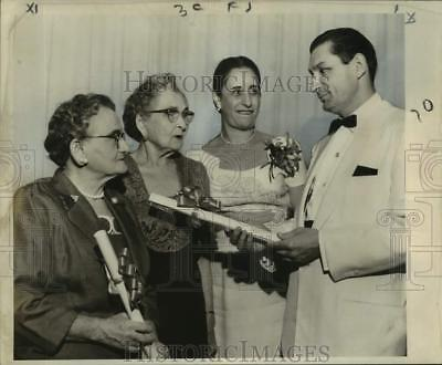 1957 Press Photo Jewish National Fund Council annual banquet in Roosevelt hotel