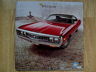 '71 Chrysler Sales Dealer Brochure Advertisment Full 41 Pg Color New Model Guide
