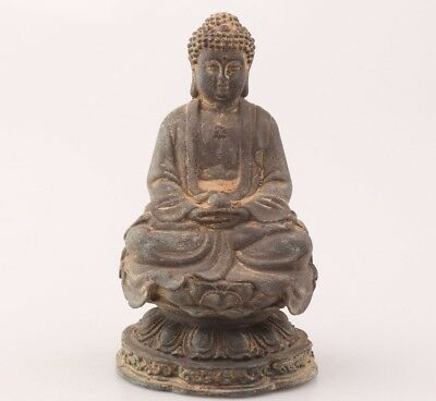 China Rare Bronze Hand-Carved Buddha Statue Meditation Belief Worship Collection
