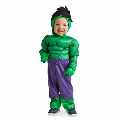 Disney Authentic The Hulk Avengers Baby Costume Size 3 6 9 12 18 24 Months New