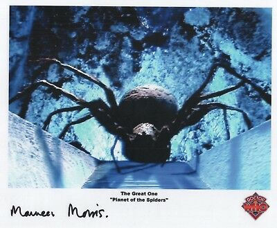 "Doctor Who Auto Photo Print Maureen Morris ""The Great One"""