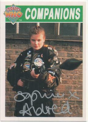 "Dr Who Cornerstone Trading Card No.84 Auto by Sophie Aldred ""Ace"""
