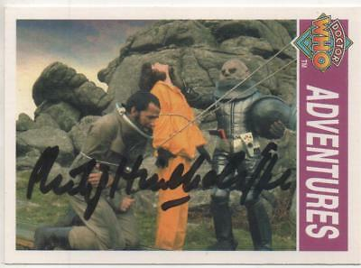 "Dr Who Cornerstone Trading Card No.143 Auto by Philip Hinchcliffe ""Producer"""