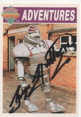 "Dr Who Cornerstone Trading Card No.20 Auto by George Gallaccio ""Unit Manager"""