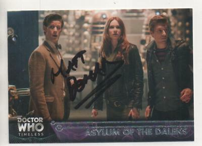 "Dr Who Timeless Topps Card No.83 Auto by Matt Doman ""DALEK Operator"""