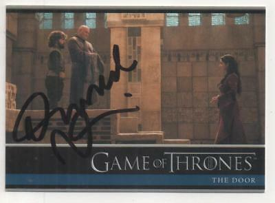 "Game of Thrones Trading Card No.14 Auto by Darrell D'Silva ""Ironborn #1"""