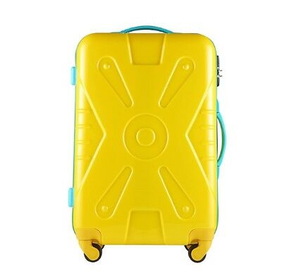 E71 Fashion Lovely Practical Travel Universal Wheel Yellow Suitcase 24 Inches W