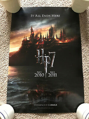 HARRY POTTER AND THE DEATHLY HALLOWS Part 1 Part 2 IMAX POSTER HP7 RARE OOP