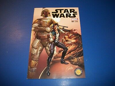 Star Wars #1 Campbell Cargo Hold Boba Fett Variant NM Beauty Wow