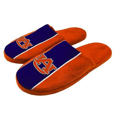 Pair of Auburn Tigers Big Logo Stripe Slide Slippers House shoes New STP18