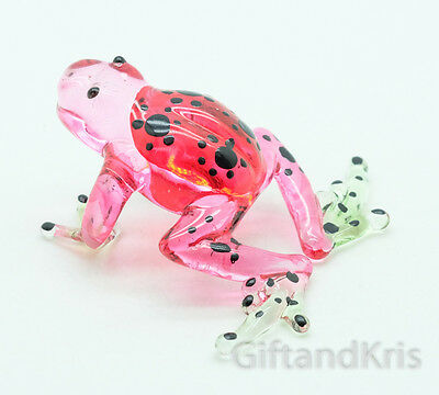 Figurine Miniature Animal Hand Blown Glass Frog - GTFR031