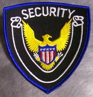 Embroidered Police Patch Security with Eagle NEW