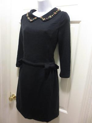 d911498b5e NWT MADEMOISELLE R By LA REDOUTE Womens Navy JEWELLED DRESS 6 S Small UK 10
