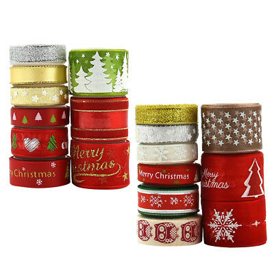 18 Styles CHRISTMAS RIBBON BUNDLES GIFT WRAPPING, WREATH, DECORATIONS, CRAFS